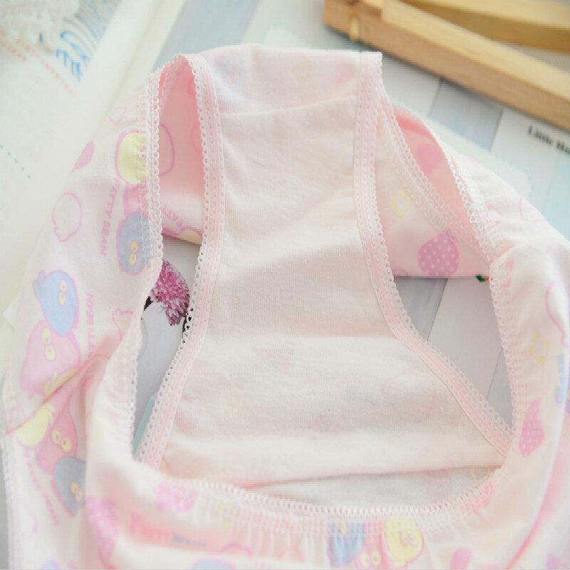 6 pz/lotto 100% cotone stampa biancheria intima per bambini mutandine 2-12 anni