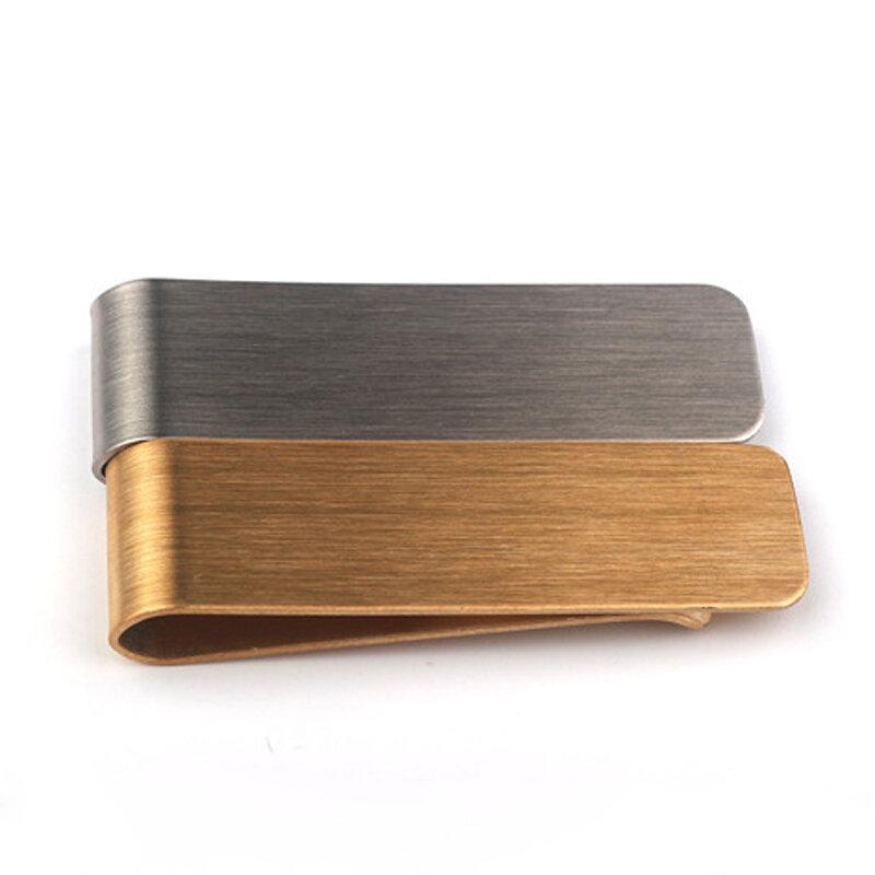 스테인레스 스틸 머니 클립 현금 카드 티켓 홀더 황동 지갑 펜 클립 편리하고 실용적인 포켓 메탈 머니 홀더