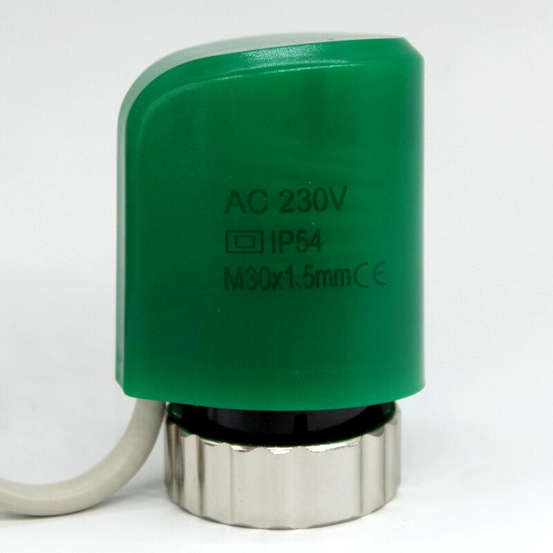 NC-مشغل كهربائي حراري رقمي مغلق عادة لمشعب الأرضية ، جزء نظام تدفئة الأرضية ، مشع الغرفة 230 فولت