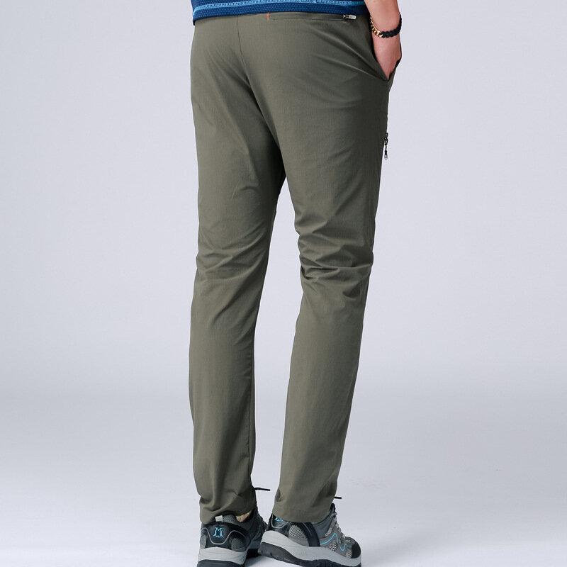 Impermeable Pantalones Reflectantes Stretch Pantalones Multifuncion Hombres Primavera Verano Transpirable Pantalones Casual Hombre Delgado Tactico Pantalones Pantalones