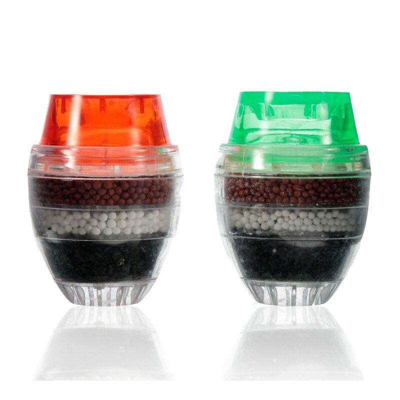 Haushalt Aktivkohle Wasser Filter Mini Küche Wasserhahn Wasserfilter Reinigung Anlage Filtration Patrone 21-23mm