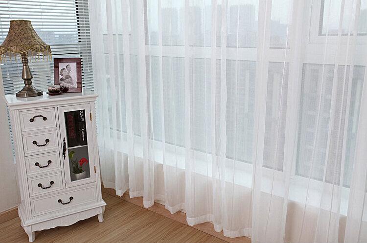 ستائر حديثة من التول الأبيض الصلب ، لغرفة المعيشة ، شفافة للنوافذ وغرفة النوم ، 2017