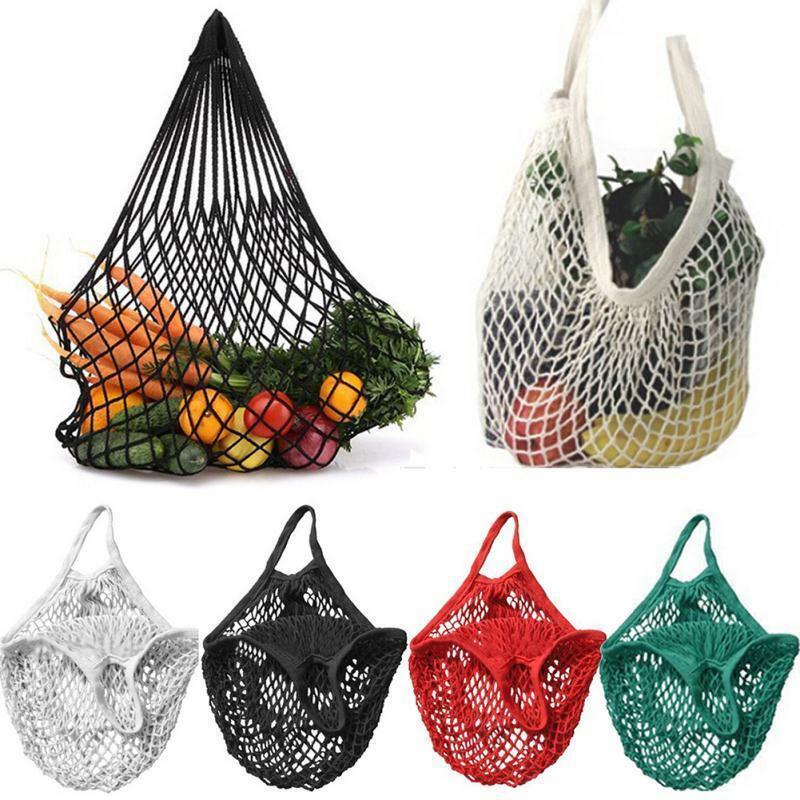 حقيبة تسوق قطنية قابلة لإعادة الاستخدام ، حقيبة حمل شبكية