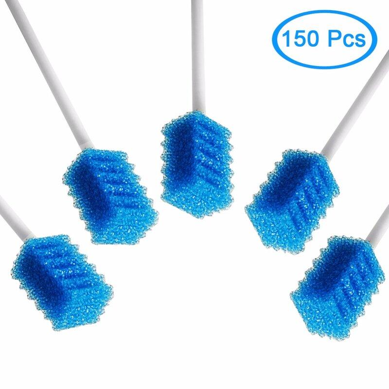 MUNKCARE Einweg Unflavored Zähne Bleaching Reinigung Dental Tupfer Dentips Zahn Reinigung Tupfer Blau