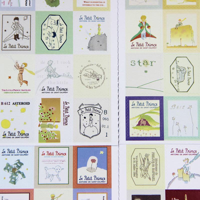 1 حقيبة (4 ورقة) DIY خمر الرجعية ختم ملصقات لندن باريس الأمير أليس لزجة سكرابوكينغ ورقة