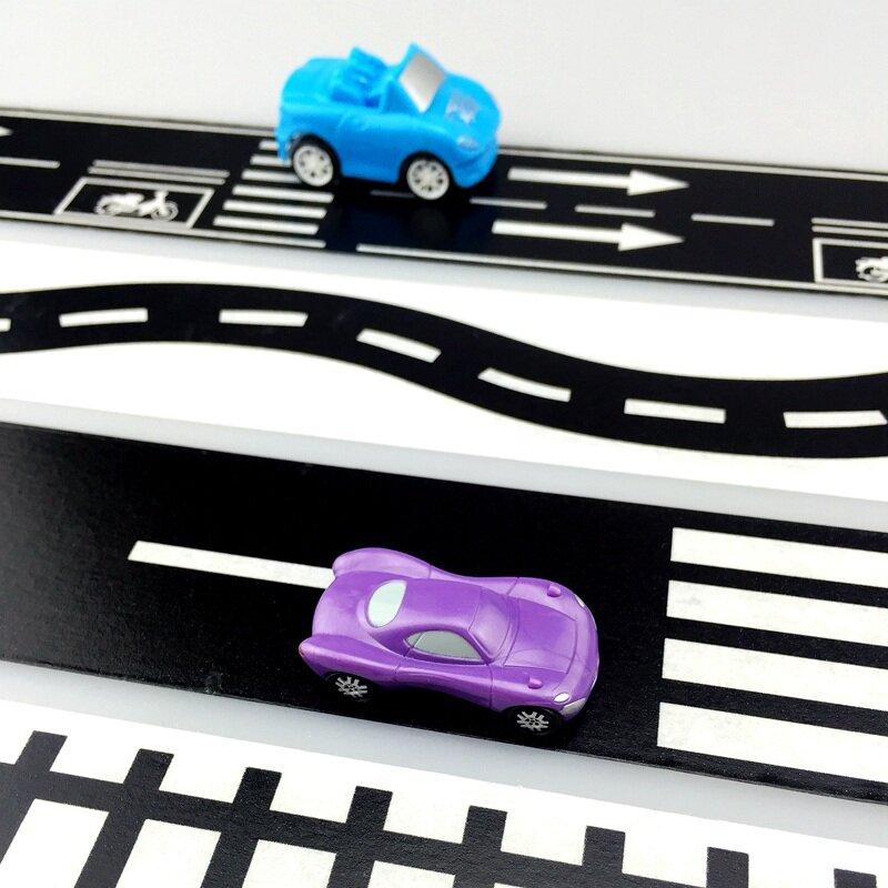 Nouveau ruban adhésif Washi pour route ferrée, 1x50.8mm x 5m, large bande de masquage, créatif, jouet, jeu de voiture pour enfants