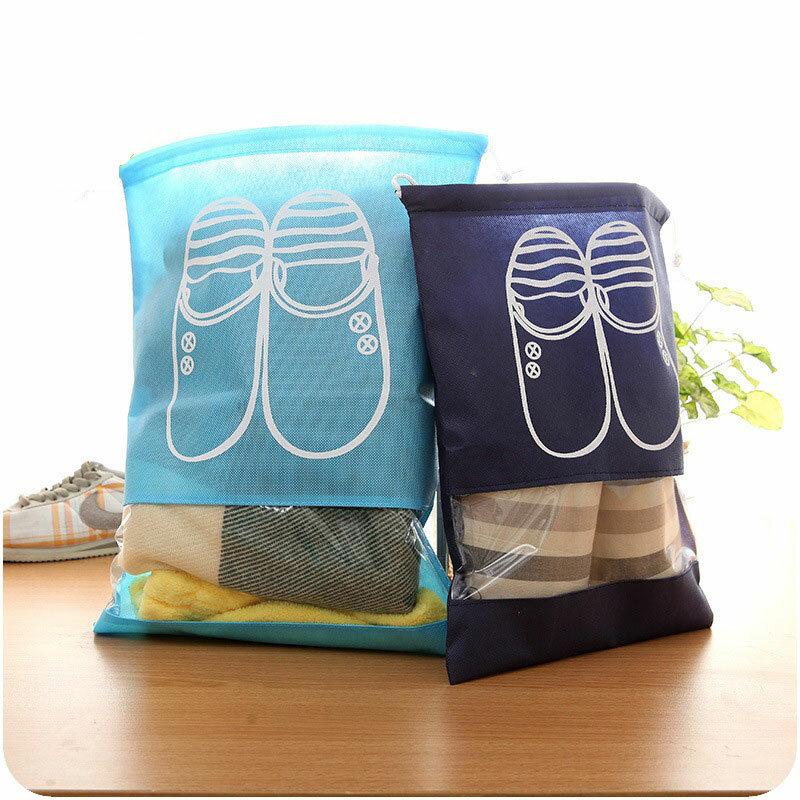 حقيبة تخزين أحذية السفر ، حقيبة واقية برباط ، ملحق سفر مفيد
