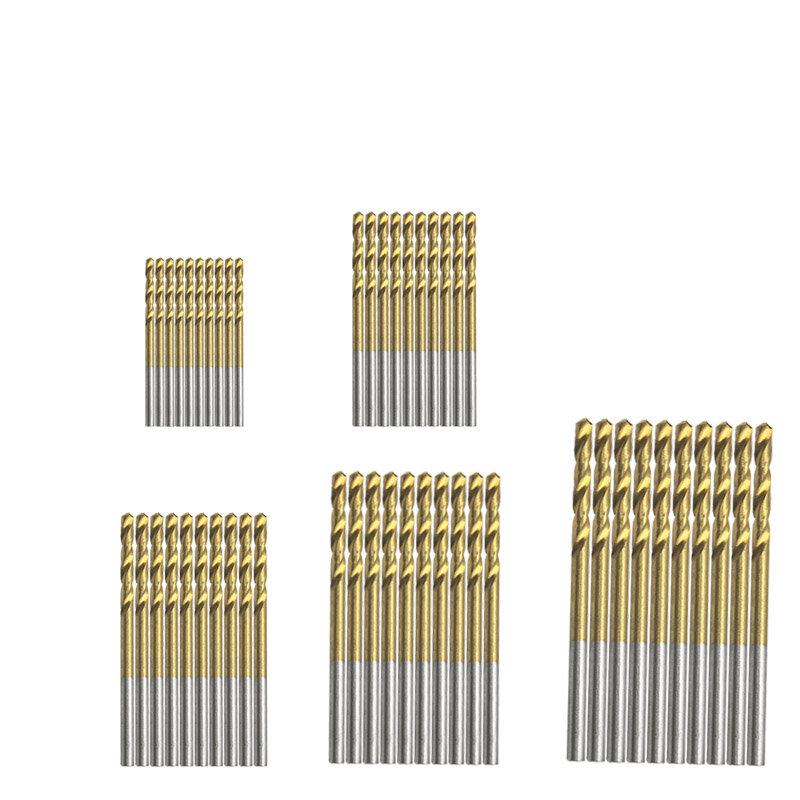 50Pcs 티타늄 코팅 HSS 고속 강철 드릴 비트 세트 도구 1mm 1.5mm 2mm 2.5mm 3mm