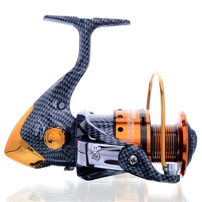 وصل حديثًا بكرة غزل معدنية لصيد الأسماك في المياه المالحة ، بكرة لف carretilha pesca 6000 Series 12 + 1BB 5.1:1 عجلة molinete pesca في الصين