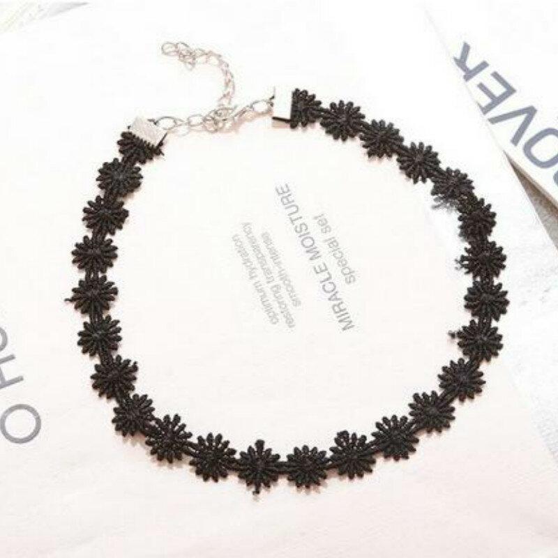 قلادة نسائية من الدانتيل الأسود موضة قوطية الشرير المختنقون Kolye Chocker Collares موهير كولير Ras دو كو
