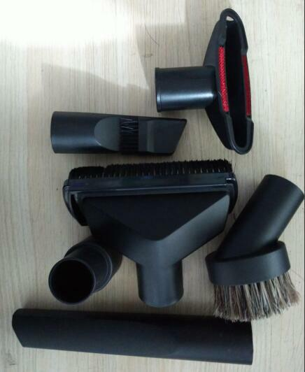 Piezas de aspiradora de 32mm o 35mm, Juego de Herramientas de limpieza 6 en 1, cepillo de boquilla multifuncional