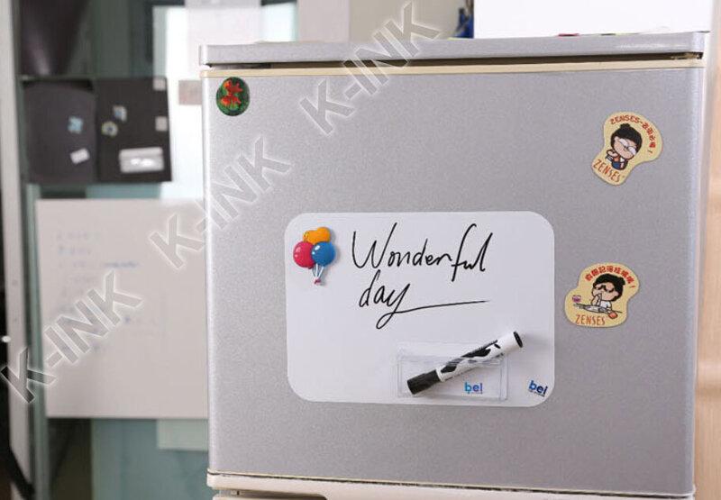 Pizarra magnética creativa, tamaño A4, pizarra blanca suave como imán de nevera/rotulador de oficina/pegatina