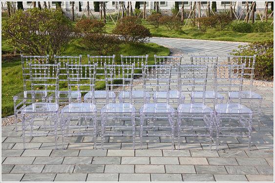 Klar Harz Tiffany Bankett Hochzeit Chiavari Stuhl
