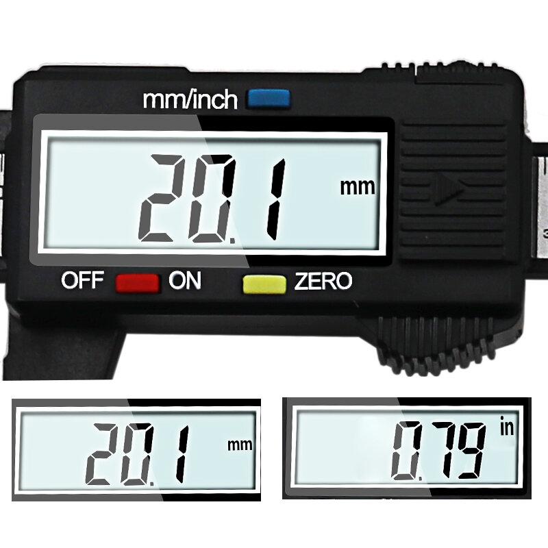 0-100มม.0-150มม.Caliper 6นิ้วLCD ElettronicoดิจิตอลCompasso A NonioไมโครเมตรStrumento Di misura