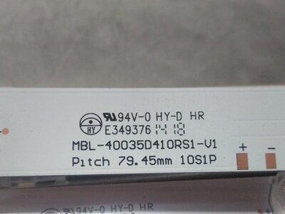 LED 백라이트 스트립 10 40 인치 MBL-40035D410RS1-V1 E349376 LED39V2 1 세트 = 4pcs