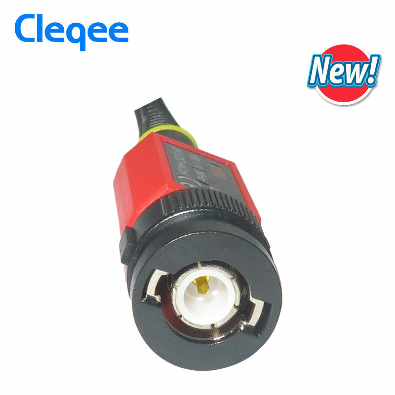 Cleqee P4100 고전압 오실로스코프 프로브 100:1 오실로스코프 용 2KV 100MHz 100X 안전 BNC 커넥터 가변 감쇠