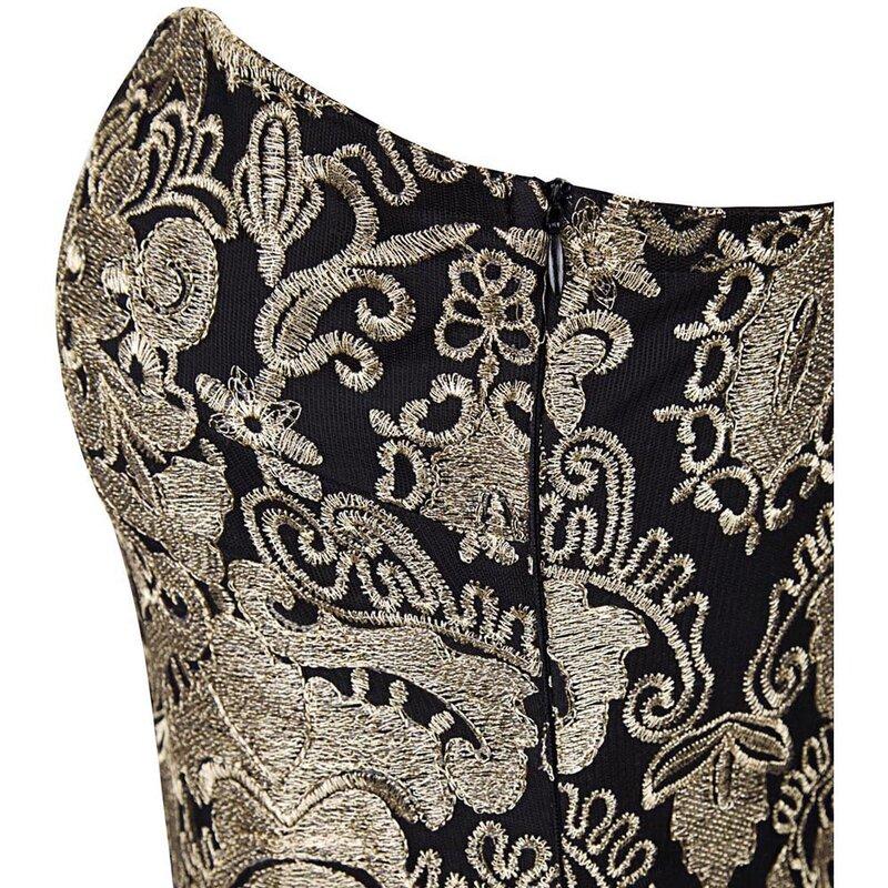 Angel fashion-فستان سهرة طويل عتيق ، بدون حمالات ، مطرز ، دانتيل شفاف ، أسود ، مجموعة 189