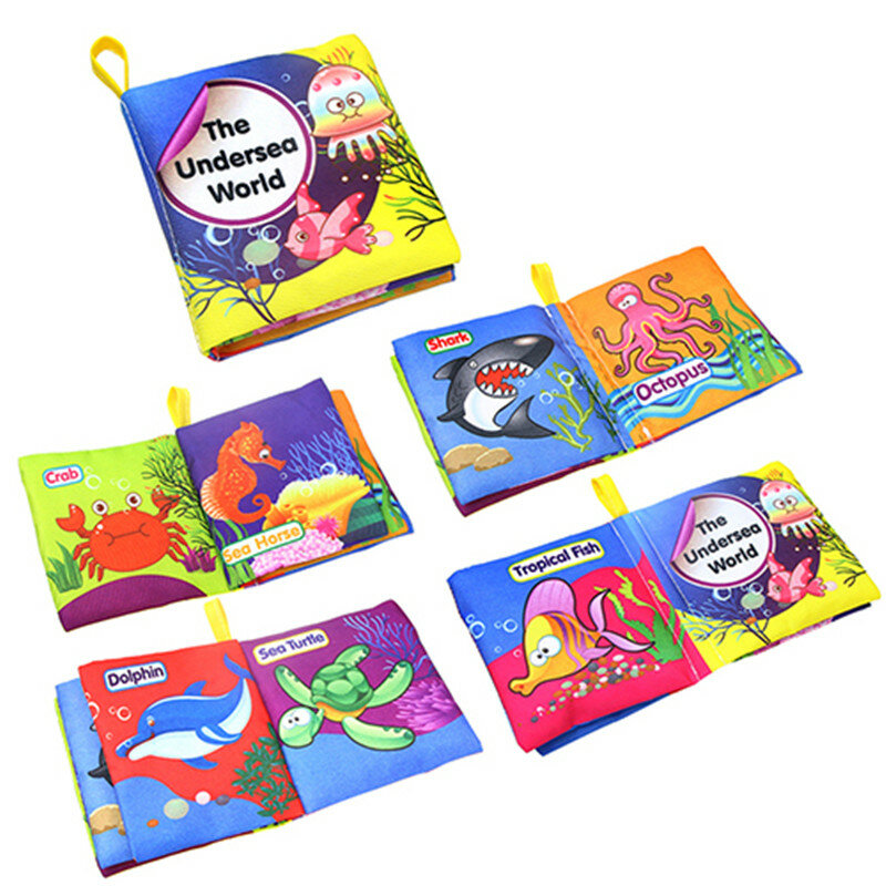 Di modo Infantile Del Bambino Dei Bambini I Bambini Lo Sviluppo Dell'intelligenza Cloth Libro Cognize Libro Giocattoli Precoce Educativo giocattolo regalo per babys