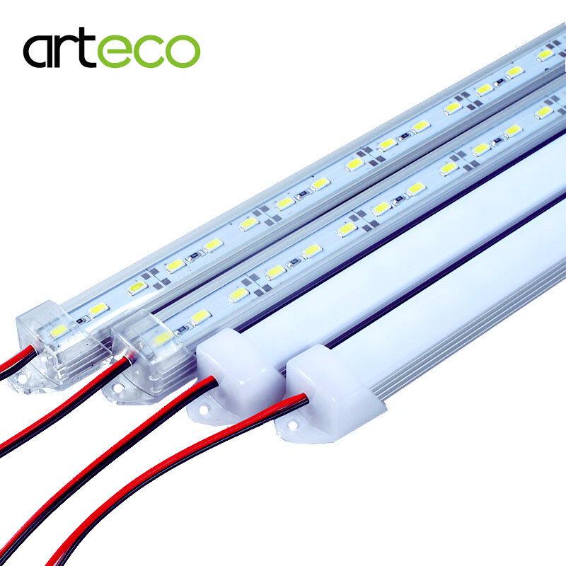 5 unids/lote 50CM DC12V Barra de luz LED 5730, 5630 con cubierta de la PC 5730 tira dura de LED luz del Gabinete de la cocina de pared de luz