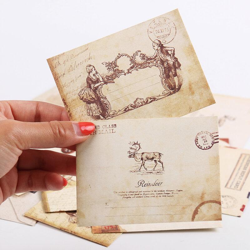 New Vintage Buste di Carta di Stile Antico Regalo Lettera Pad Pack Ufficio Scuola di Alimentazione Mini Busta di Carta Buste di Carta di 12 Pz/set