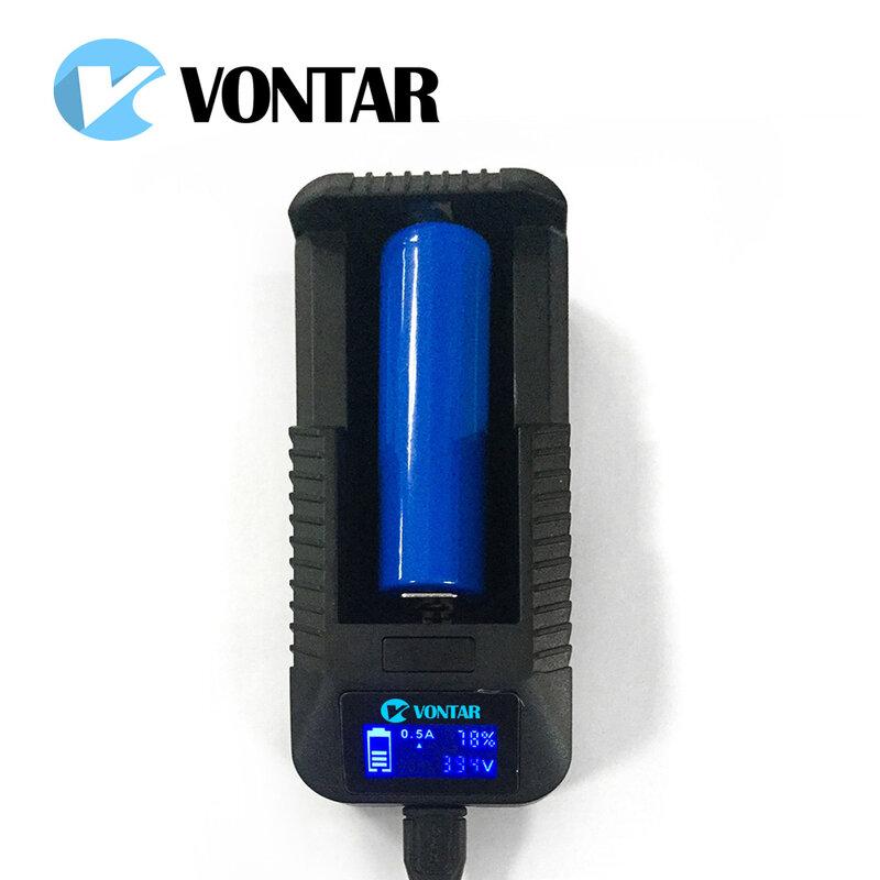 VONTAR Smart LCD USB Batterie Ladegerät Smart für 26650 18650 18500 18350 17670 16340 14500 10440 lithium-batterie 3,7 V
