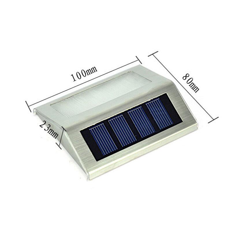 태양 전원 led 야외 방수 정원 통로 계단 램프 빛 에너지 절약 led 태양 벽 램프 따뜻한 화이트 콜드 화이트