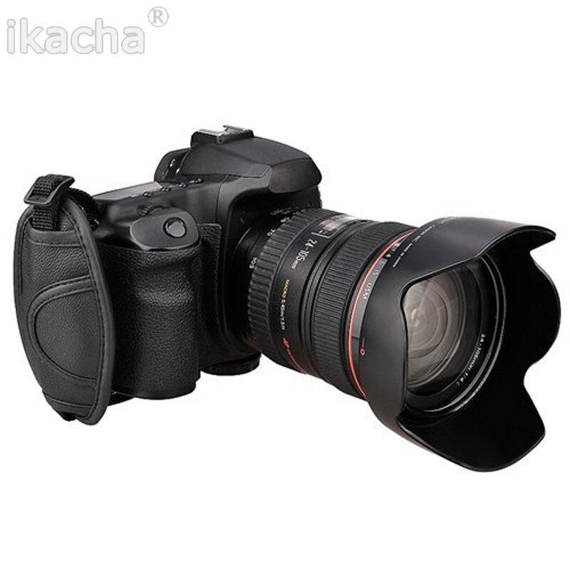 مقبض حزام جلد عالمي لكاميرا DSLR ، لكانون 5D Mark II 650D 550D 70D ، لنيكون D7000 D5200 D5100 ، علامة تجارية عالية الجودة