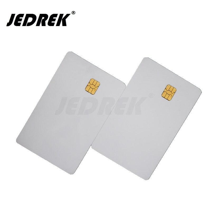 (10 قطعة/الوحدة) SLE 4442 رقاقة البلاستيكية البطاقة الذكية فارغة بطاقات IC ISO7816