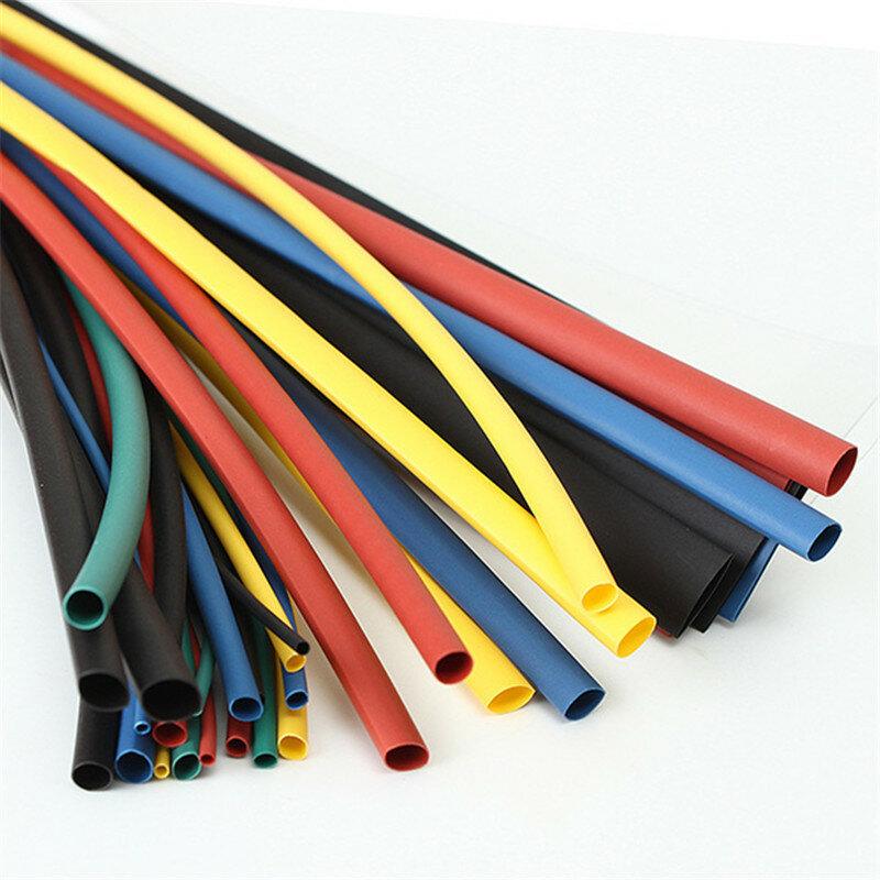 55M 6 colori 1.5/2.5/3.5/4.5/5.5/6.5/8.6/10.5/12.5/15.5/22mm poliolefina 1: 1 tubo termorestringente guaina di collegamento elettrica