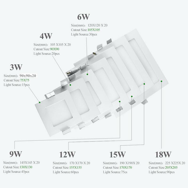 Ultra Dünne Spot Led 3W 4W 6W 9W 12W 15W 18W Led-Panel downlight Einbau Licht AC85-265V Led Spot Decke Lampe Indoor Hause Licht