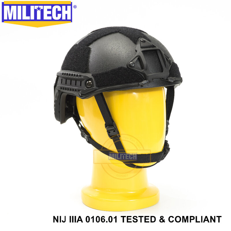 ISO معتمد 2019 جديد MILITECH BK نيج مستوى IIIA 3A سريع عالية XP قطع الرصاص الأراميد البالستية خوذة مع 5 سنوات الضمان