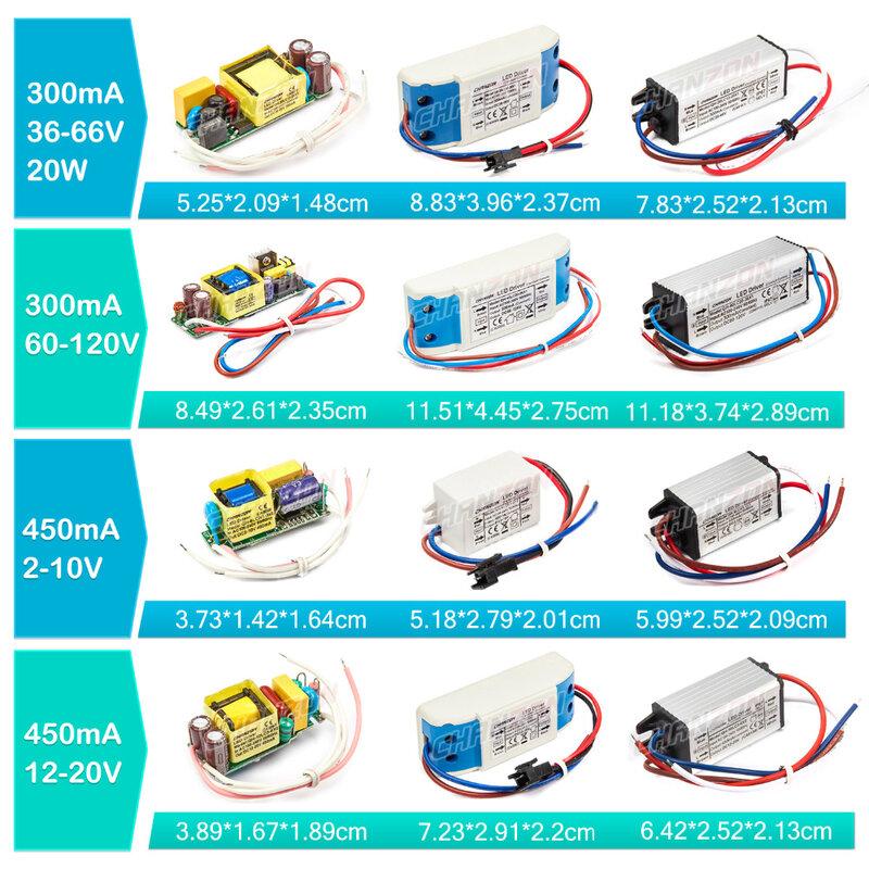 LED Driver 1W 3W 5W 10W 20W 30W 36W 50W 100W 300mA 600mA 900mA 1500mA Impermeabile Trasformatori di Illuminazione per il FAI DA TE di Alimentazione Della Lampada