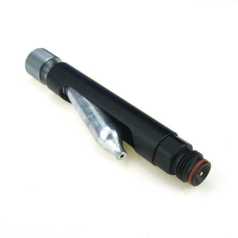 Airsoft-مسدس كرات الطلاء ، محول CO2 ، 12 جرام ، PCP ، بندقية هوائية ، تغيير سريع ، مع خيوط خزان كرات الطلاء ، أسود