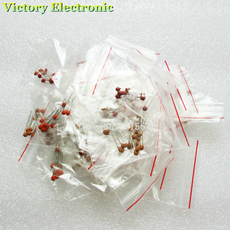 300 stücke Keramik kondensator 2PF-0.1UF, 30 valuesX10 stücke = 300 stücke, Elektronische Komponenten Paket, keramik kondensator Assorted Kit