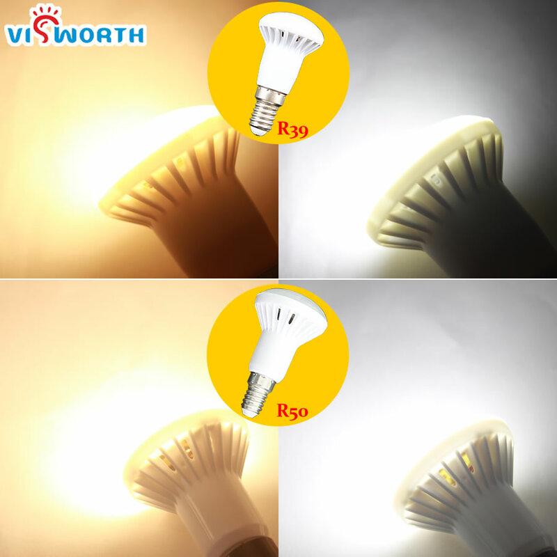 R50 LED لمبة الإضاءة الكريستالية ، E27 LED لمبة الكشاف ، ضوء أبيض دافئ وبارد ، E14 ، 3 ، 5 ، 7 ، 9 ، 12 ، 15 ، 20 واط