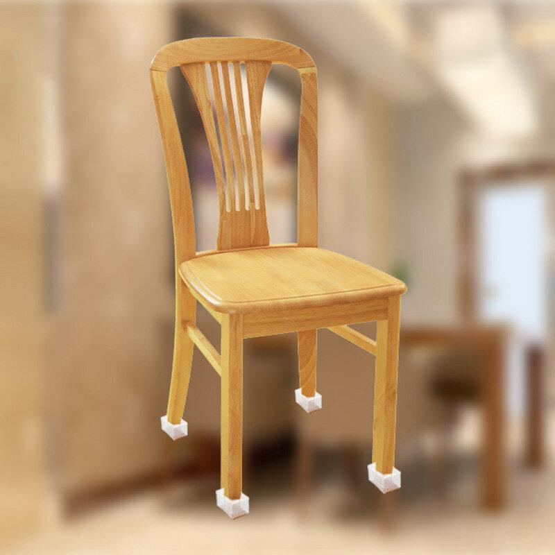 10 teile/satz Transparent Silikon Rechteck Platz Runde Stuhl Bein Caps Füße Pads Möbel Tisch Füße Holz Boden Schützen Liefert