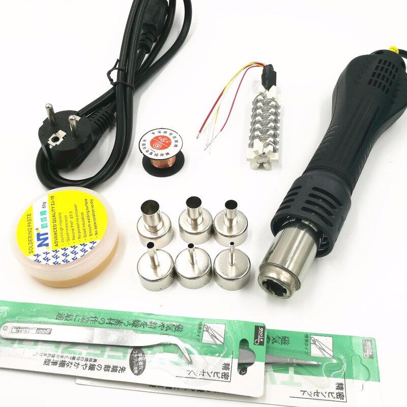 YOUYUE-مسدس هواء ساخن 858D ESD ، 700 واط ، محطة لحام رقمية ، 6 فوهات هواء ، قلب تسخين مع ماضي لحام