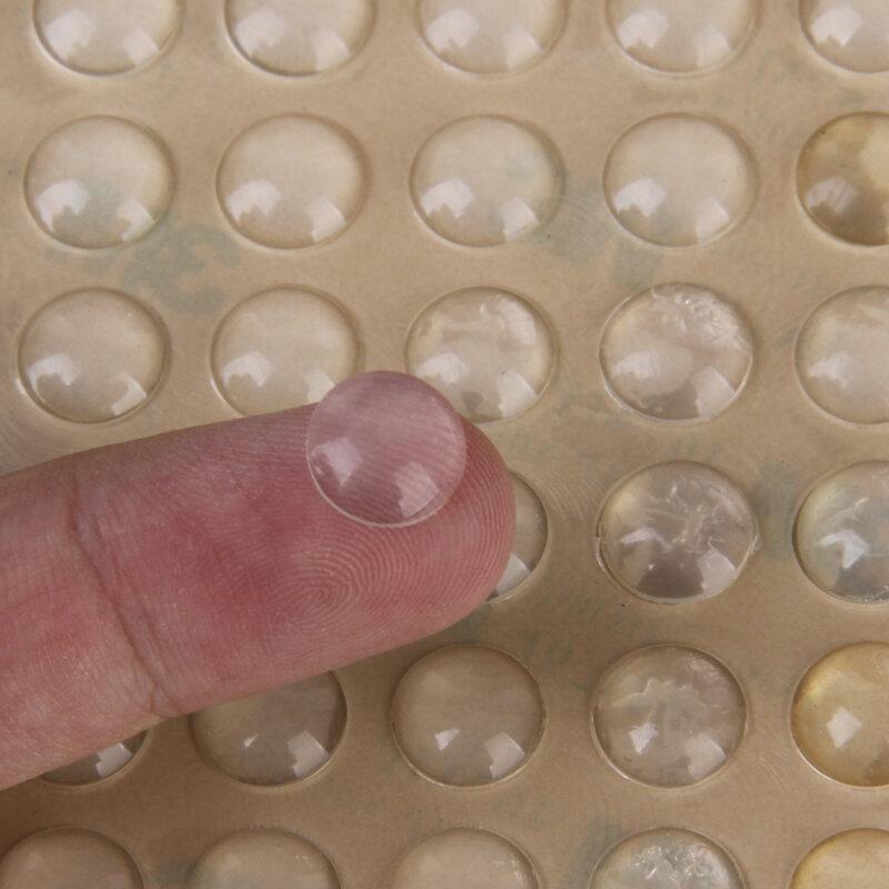 Almohadillas para los pies de semicírculo de silicona adhesiva, gel de sílice transparente, amortiguador de goma, almohadillas autoadhesivas para los pies, 100 Uds.