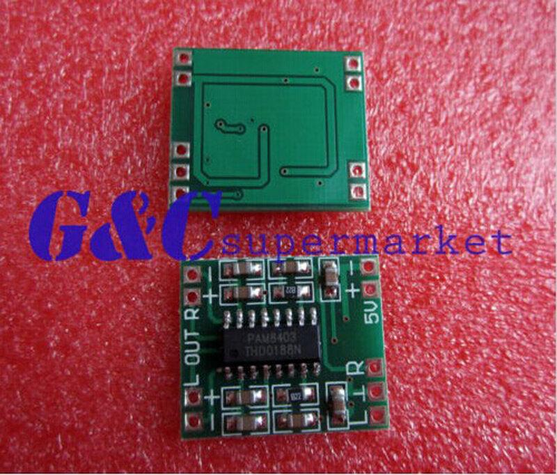 1 قطعة 2.5-5 فولت 2X3W لوحة مكبر للصوت فئة D الصوت المصغر