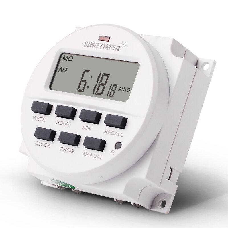 GRANDE DISPLAY LCD Da 1.6 Pollici Digitale 220 V 230 V AC 7 Giorni Programmabile Timer Interruttore Con UL Elencato Relè All'interno e Tempo di Conto Alla Rovescia Funzione