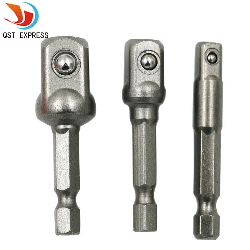 """Chrom-vanadium-stahl Sockel Adapter Seth EX Schaft zu 1/4 """"3/8"""" 1/2 """"Erweiterung Bohrmaschine Bits Hex Bit set Power Tools"""