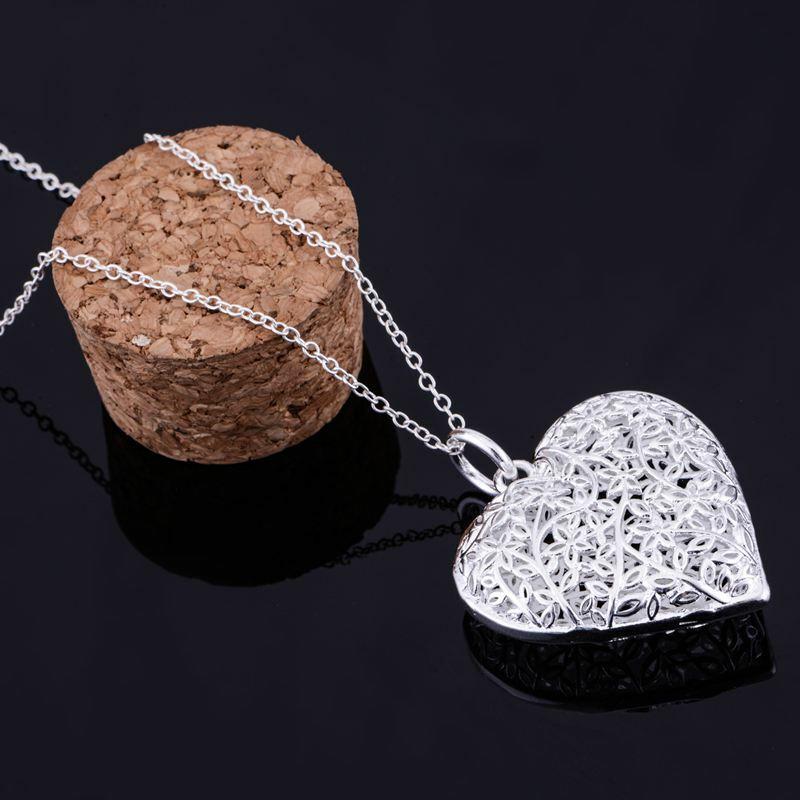 الفضة مطلي قلادة ، الفضة قلادة الأزياء والمجوهرات ، القلباني الجوف لامعة/gfwaoxda hxeaqola LQ-P218
