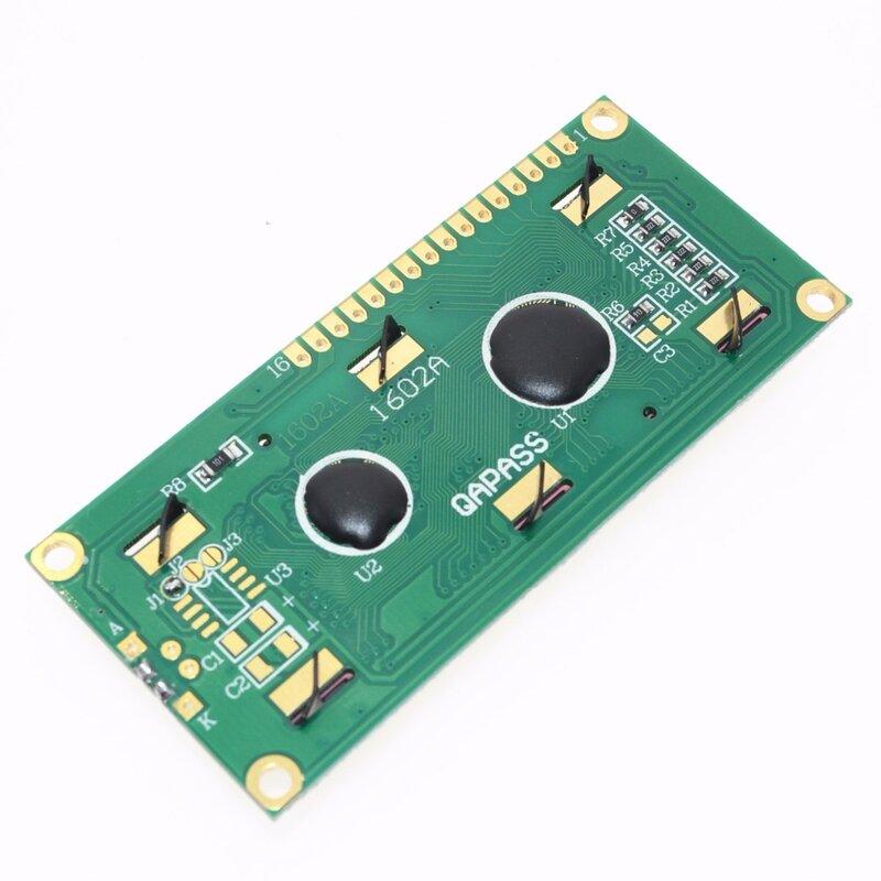 1 pz LCD1602 1602 modulo schermo verde 16x2 carattere modulo Display LCD. 1602 5V schermo verde e codice bianco per arduino