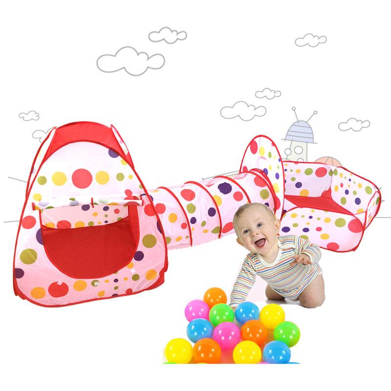 เด็กเล่นเต็นท์ ChildrenTunnel Kids Play House ทารก Ocean Ball สระว่ายน้ำกลางแจ้งสนุกของเล่นเต็นท์