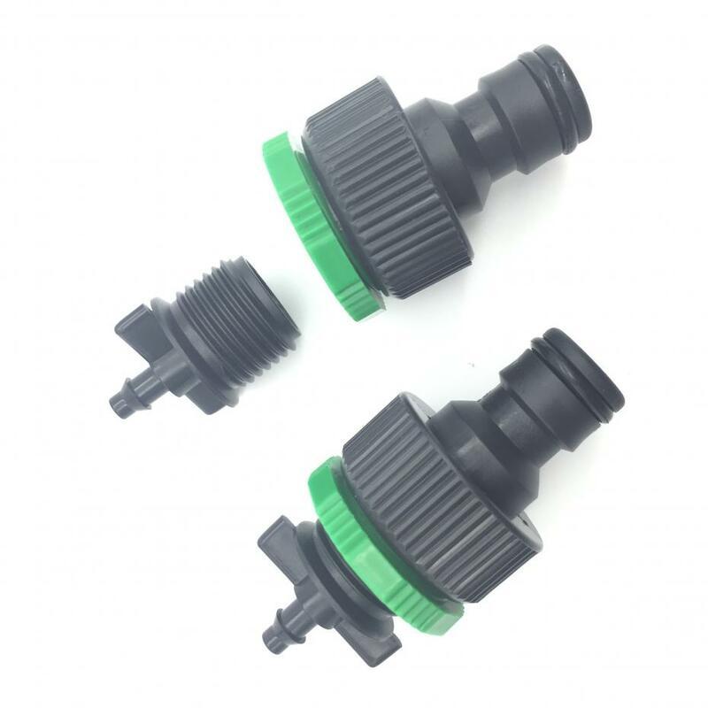 1 pièces connecteur rapide de bonne qualité   Tuyau de 1/4 pouces (4/7mm) tuyauterie d'irrigation de jardin offre spéciale en russie Easy inst