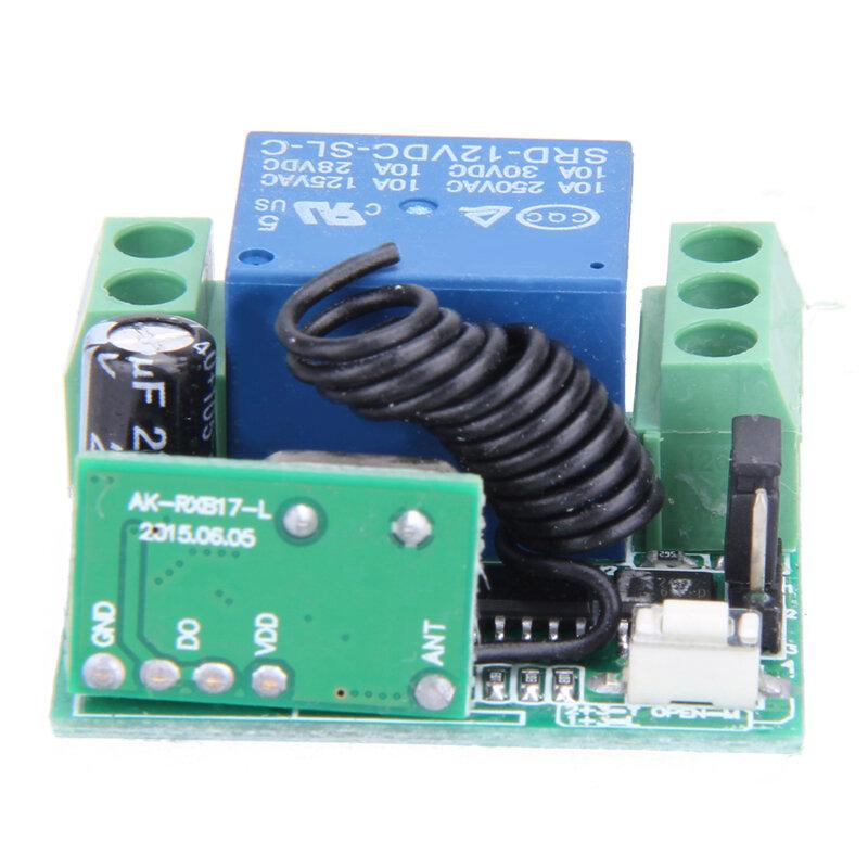 Universal Wireless Fernbedienung Schalter DC 12V 10A 433MHz Telecomando Sender mit Empfänger für Anti-diebstahl Alarm system
