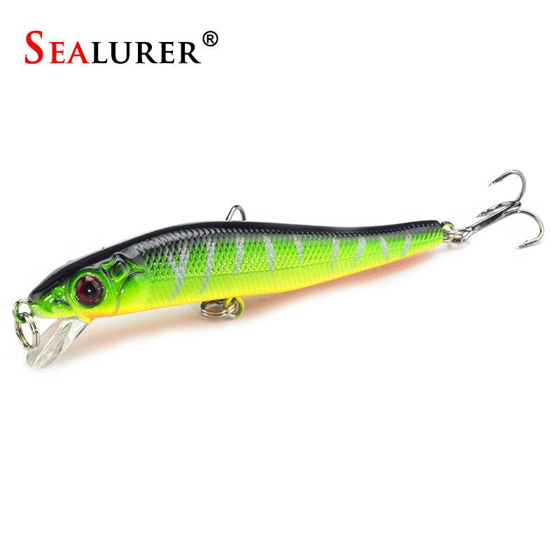 1 PCS SEALURER เหยื่อ Minnow เหยื่อตกปลาเหยื่อตกปลา 5 สีคุณสามารถเลือกพร้อม 3D ตา 8cm5. 5g