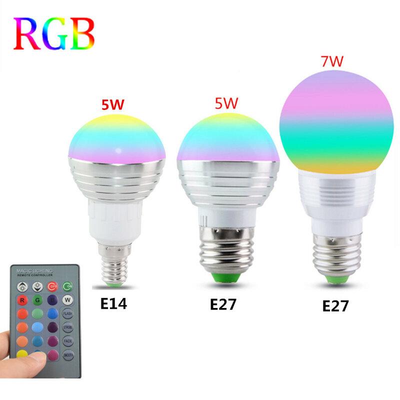 E27 E14 LED 16 Farbwechsel RGB Magie Glühbirne Lampe 85-265 V 110 V 120 V 220 V RGB Led Licht Scheinwerfer + IR Fernbedienung