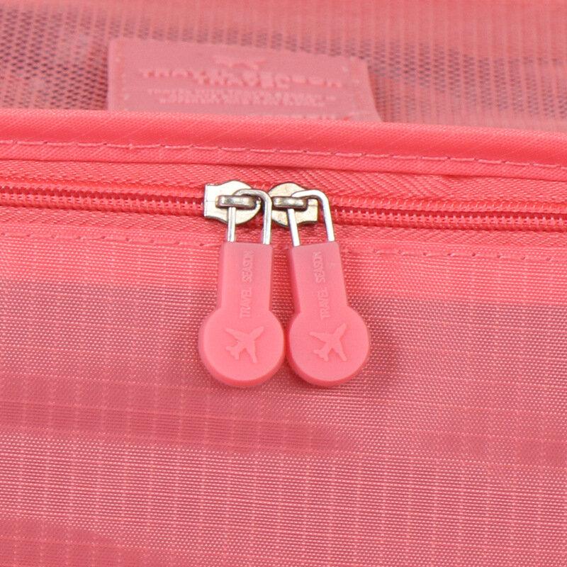 6 teile/satz Mode Doppel-reißverschluss Wasserdichte Polyester Männer und Frauen Gepäck Reisetaschen verpackung würfel