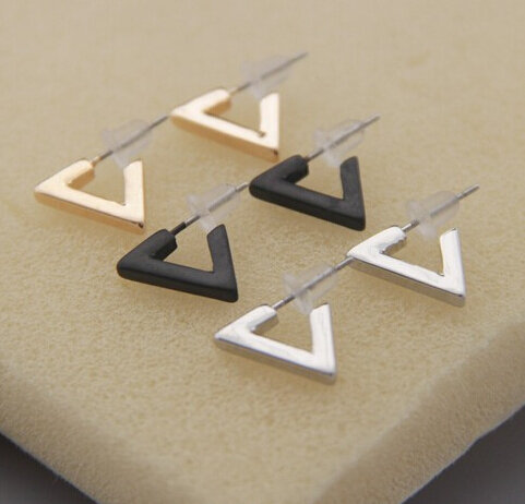 Timlee E112-أقراط على شكل مثلث ، للنساء ، بالجملة